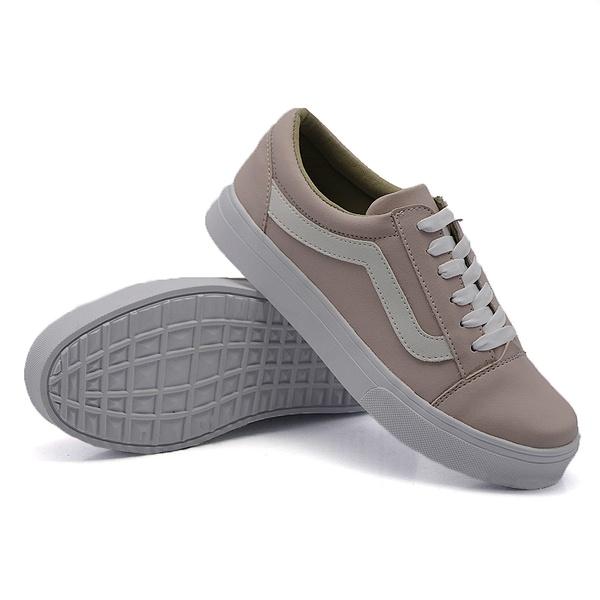 Tênis Casual Listra Rosê DKShoes