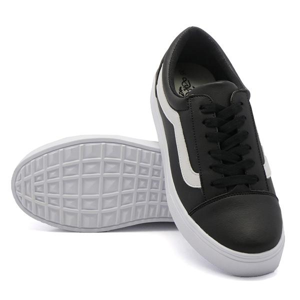Tênis Casual Listra Preto DKShoes