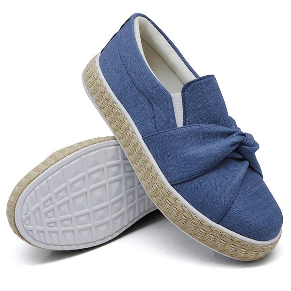 Slip On Nó Jeans Claro Corda DKShoes