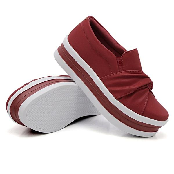 Slip On Nó Sola Alta Vermelho DKShoes