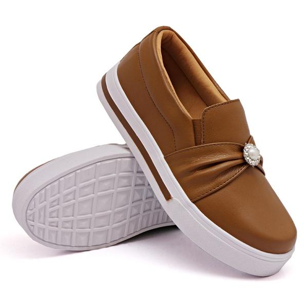 Slip On Pérola Caramelo DKShoes