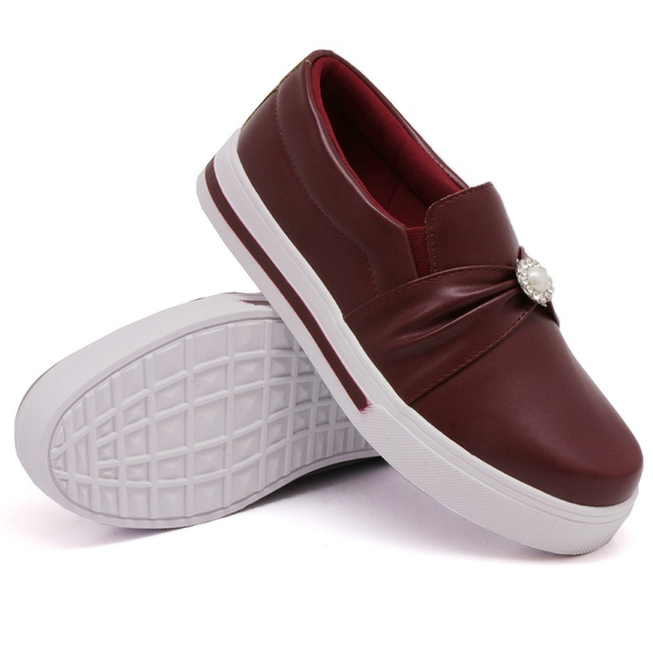 Slip On Pérola Marsala DKShoes