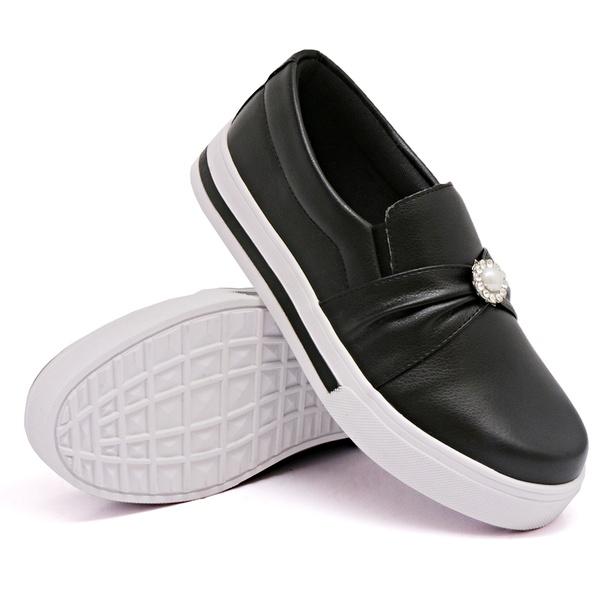 Slip On Pérola Preto DKShoes