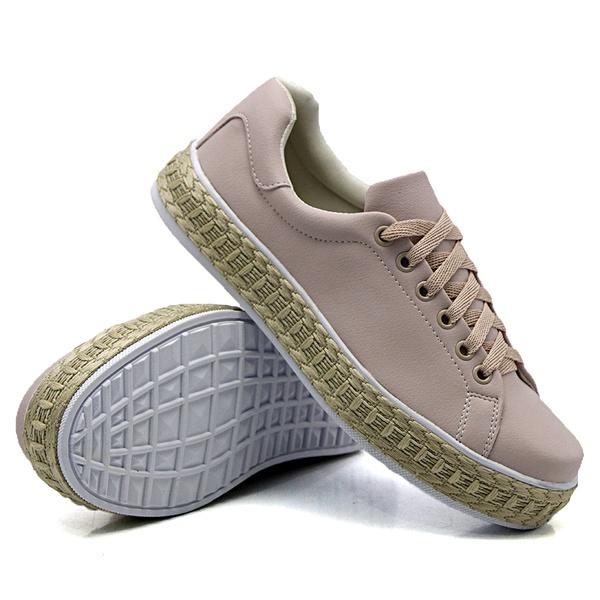 Tênis Casual Pietra Corda Rosê DKShoes
