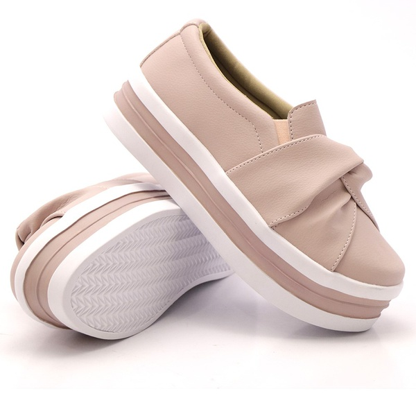 Slip On Nó Sola Alta Rosê DKShoes