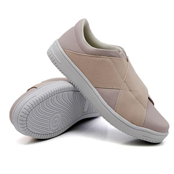 Slip On Siena Elástico Rosê DKShoes