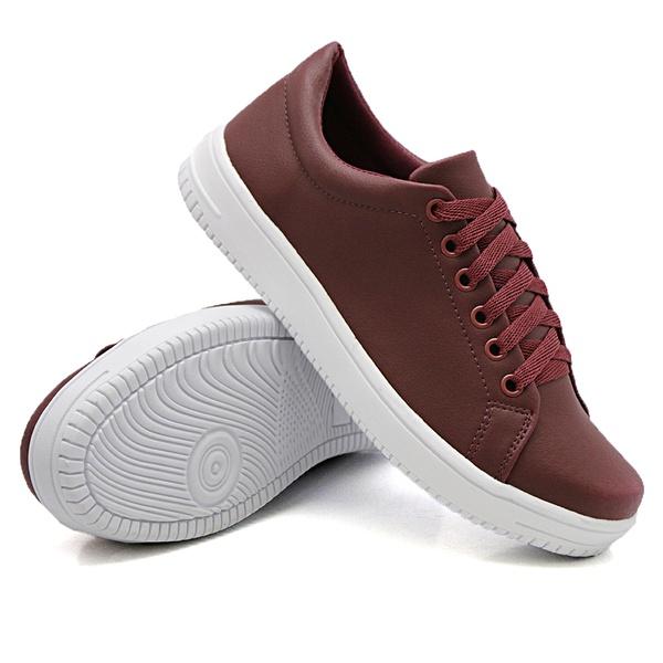 Tênis Casual Siena Marsala DKShoes