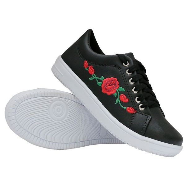 Tênis Casual Preto Flor DKShoes