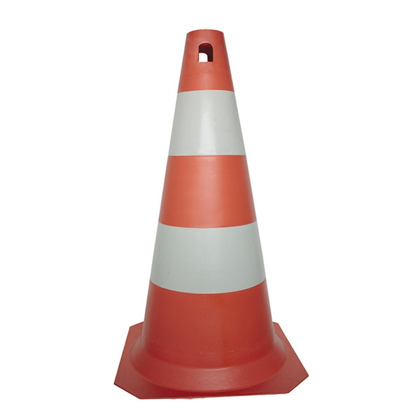 Cone Rígido PLT 75cm de altura PPS 04 PROTEPLUS Laranja e Branco