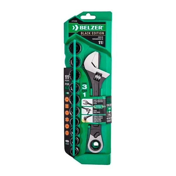 Jogo De Soquete Vortex X6 Com Chave Ajustável CPTAW8B - Belzer