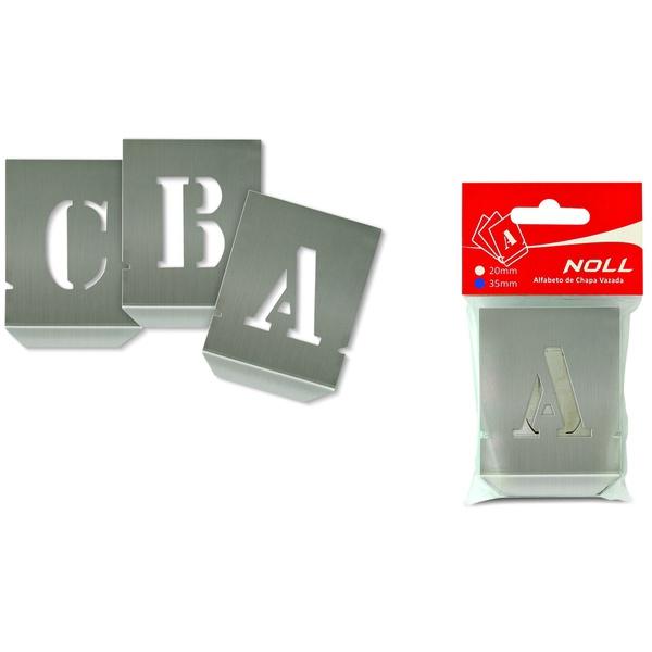 Alfabeto Chapa Vazada 35mm 136,0007 NOLL