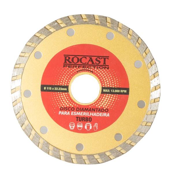 Disco Diamantado para Esmerilhadeira Turbo Uso Geral 115x22mm 34,0009 ROCAST