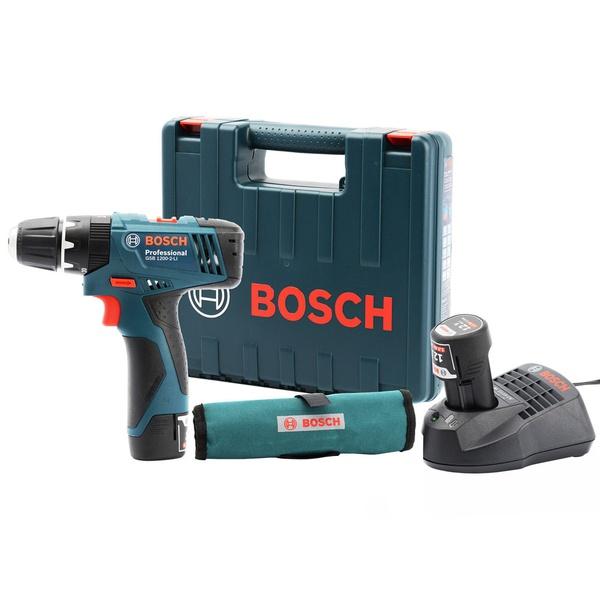 Furadeira Impacto/Parafusadeira Bateria + 23 Acess. GSB 1200-2-Li - Bosch 220V