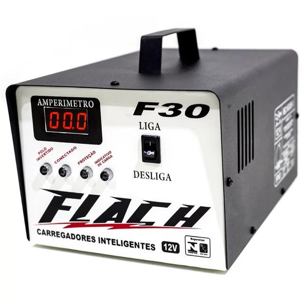 Carregador Inteligente de Bateria 30A-12V Bivolt F30 - Flach