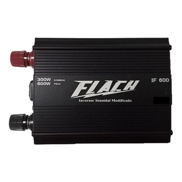 Inversor de Tensão 12V/127V 600W Pico-300W IF600-3 - Flach