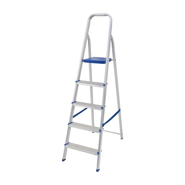 Escada Doméstica Alumínio 5 Degraus - MOR