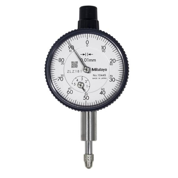 Relógio Comparador Analógico Compacto Tampa Plana 5mm 0,01mm 1044SB - Mitutoyo