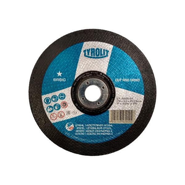 """Disco de Desbaste 7"""" x 9/64"""" x 7/8"""" A30Q-BF Basic - 743944 - TYROLIT"""