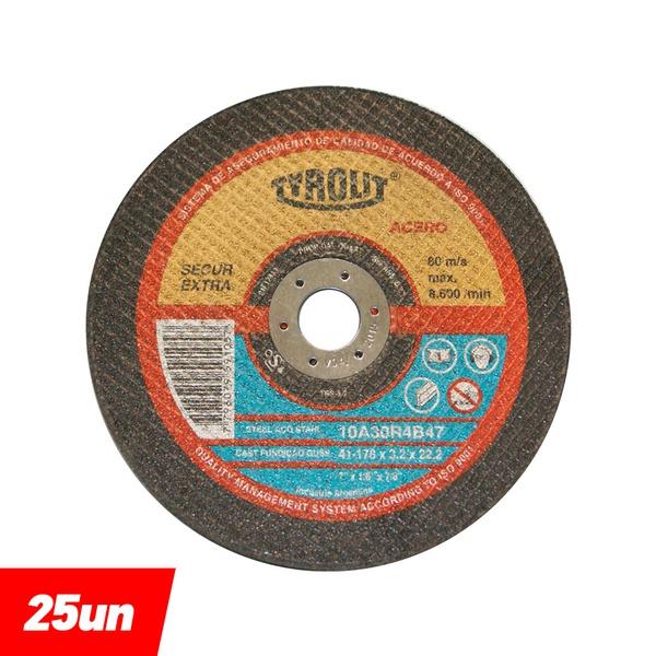 Combo Disco de Corte 2 Telas 7'' x 1/8'' x 7/8'' - 10A30R4B47 - 565173 - TYROLIT