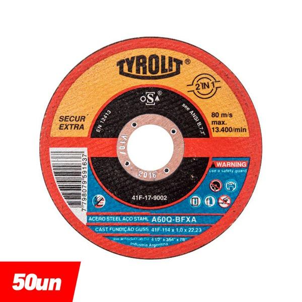 Combo Disco de Corte Deep Cut 4.1/2'' x 1.0 x 7/8'' - A60Q-BFXA - 677988 - TYROLIT