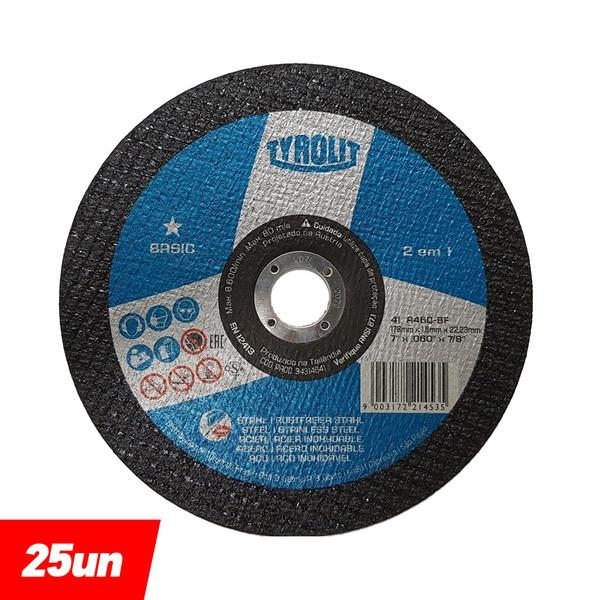 Combo Disco de Corte Deep Cut 7'' x 1.6 x 7/8'' - Basic 2in1 - 34314641 - TYROLIT