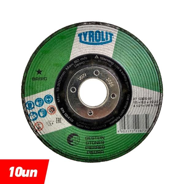 Combo Disco de Desbaste Refratário 4.1/2'' x 1/4 x 7/8'' - Basic - 222873 - TYROLIT