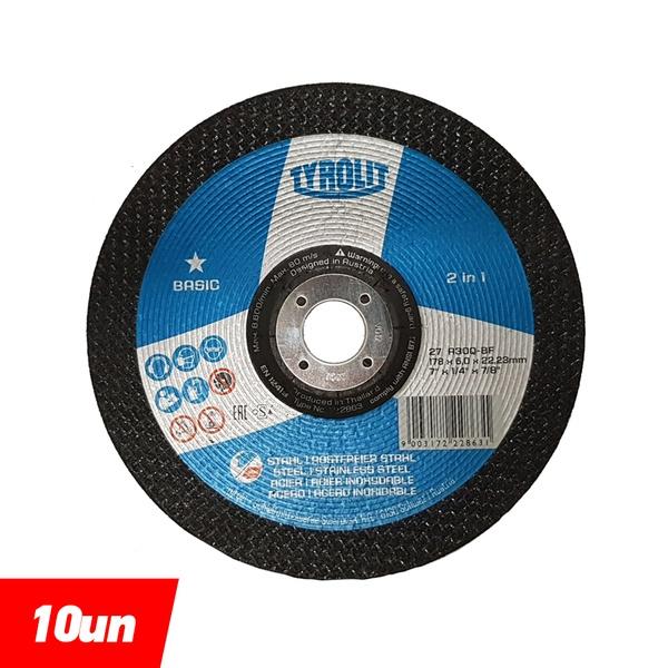 Combo Disco de Desbaste 7'' x 1/4'' x 7/8'' - Basic 2in1 - 222863 - TYROLIT