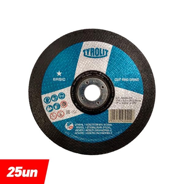 Combo Disco de Desbaste 7'' x 9/64'' x 7/8'' A30Q-BF Basic - 743944 - TYROLIT
