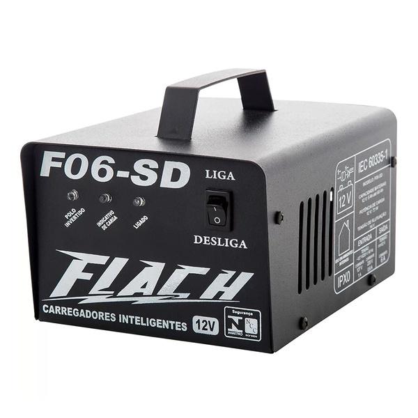 Carregador Inteligente de Bateria 6A-12V Bivolt F06-SD - Flach