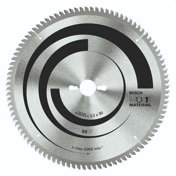 Disco de serra Circular Bosch Multimaterial ø254, furo de 30 mm, espessura de 2 mm, 80 dentes