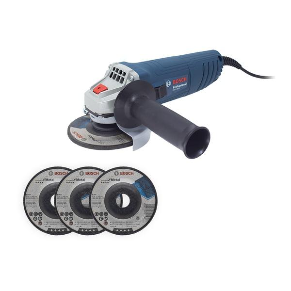 Esmerilhadeira Angular 850W 4.1/2Pol GWS 850 + 3 Discos - Bosch