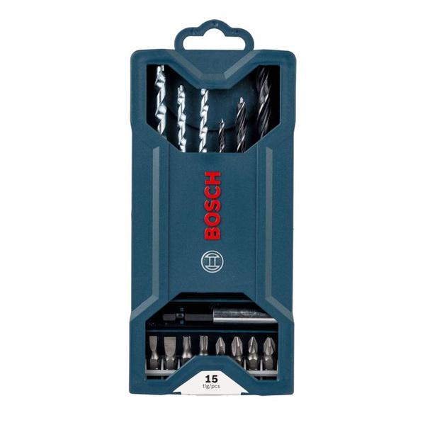 Kit de Pontas e Brocas Bosch Mini X-Line 15 Peças
