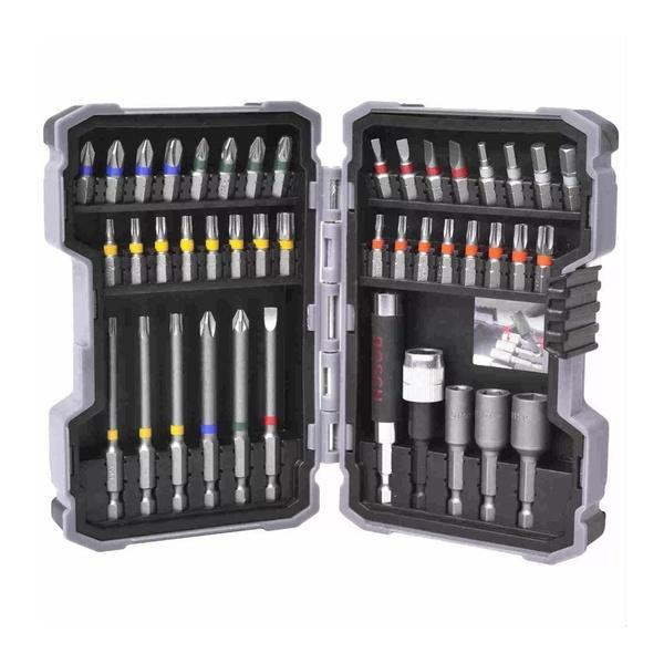Kit de Pontas e Soquetes Bosch para parafusar com 43 Peças
