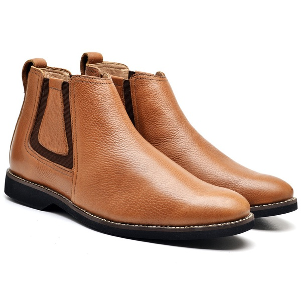 Bota Chelsea Masculina TO Couro Floater Tan