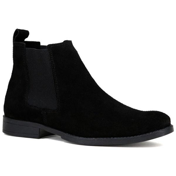 Bota Chelsea Boots Preta couro legítimo