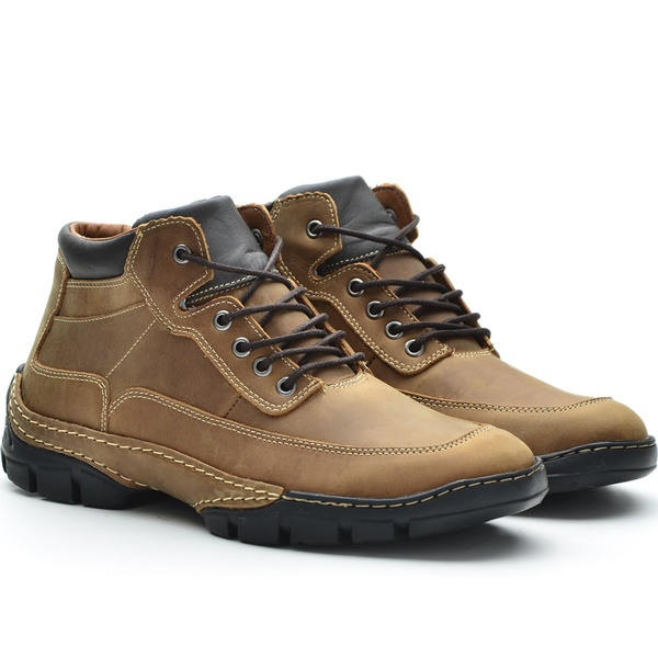 Bota Casual Plus Adventure Rota Shoes Whisky 100% Couro