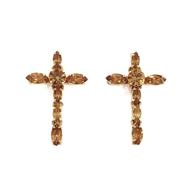 Brinco de Crucifixo Dourado