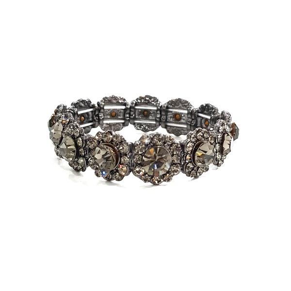 COD12594 BRACELETE COM STRASS BLACK DIAMOND