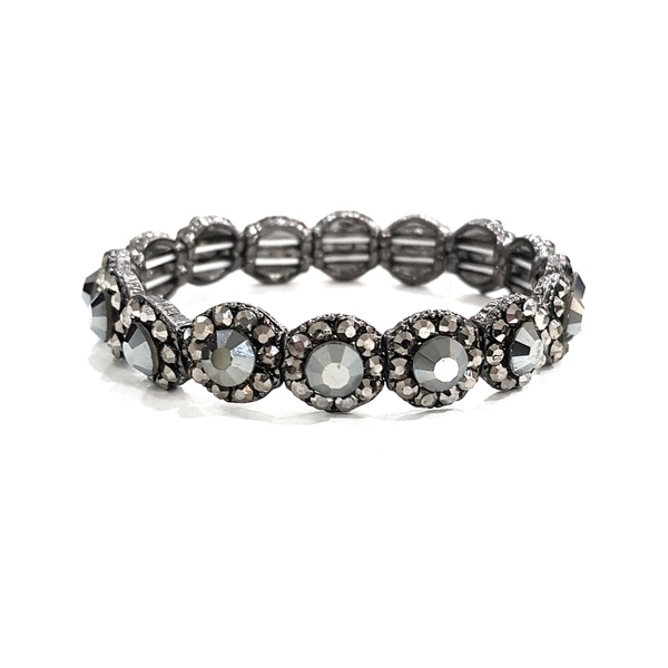 COD12596 BRACELETE COM STRASS BLACK DIAMOND