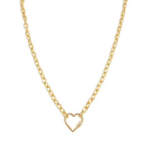 colar coração dourado 12503