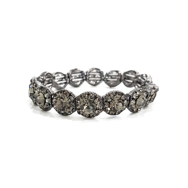 BRACELETE COM STRASS BLACK DIAMOND 12521