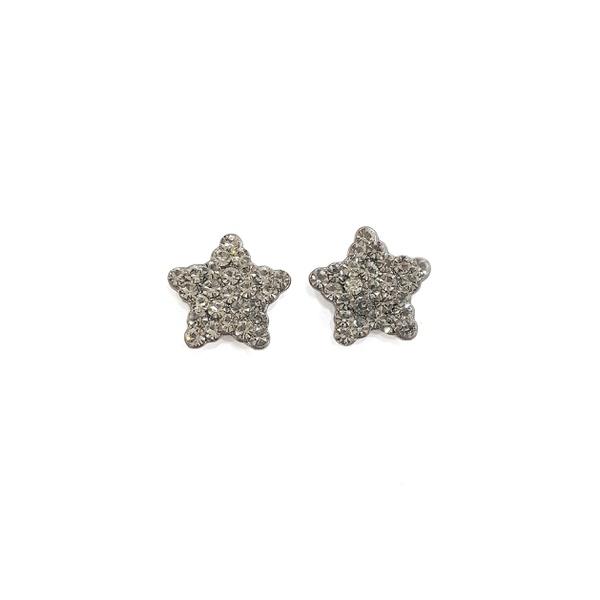 Brinco de estrela com strass black diamond 12751
