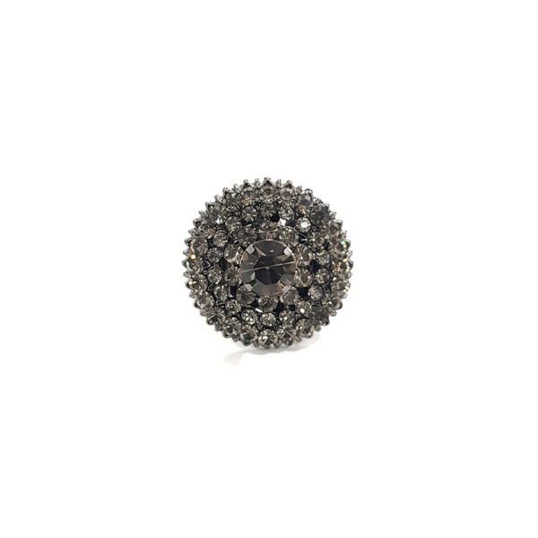 COD13164 ANEL COM STRASS BLACK DIAMOND