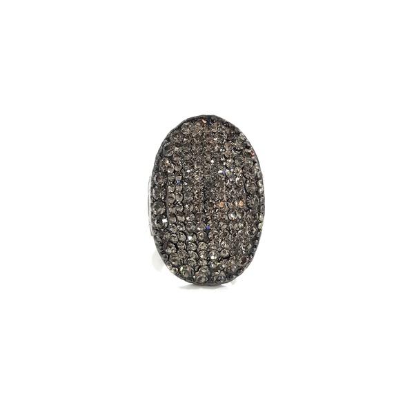 anel grafite com strass black diamond 13168
