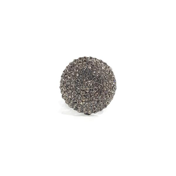 COD13171 ANEL REDONDO COM STRASS BLACK DIAMOND
