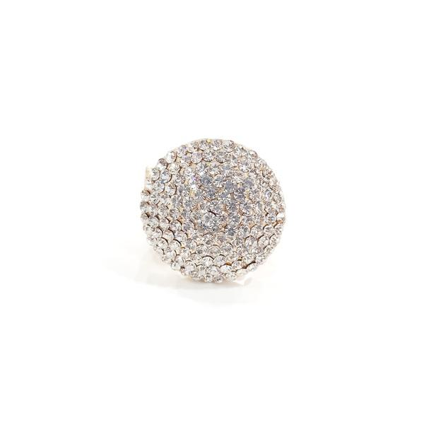 anel dourado cristal 13211