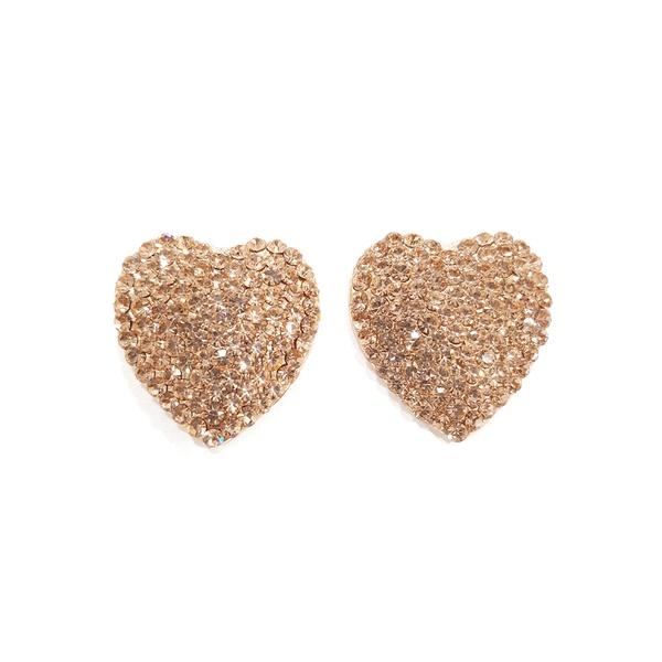 brinco dourado de coração 13212