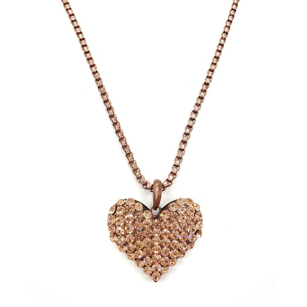 Maxi colar de coração com corrente veneziana
