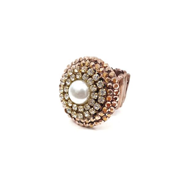 Maxi anel vintage com chaton pérola 13300