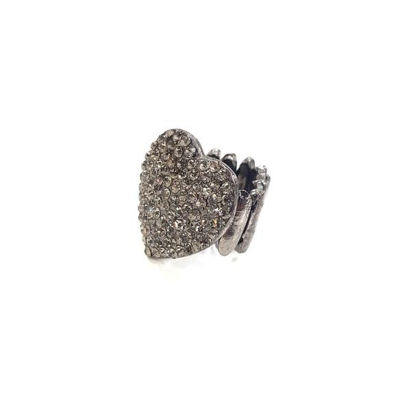 ANEL DE CORAÇÃO BLACK DIAMOND 13380
